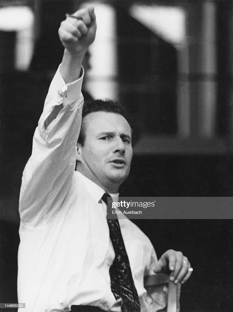 English conductor Colin Davis rehearsing 'The Marriage of Figaro' at Covent Garden, London, 19th November 1971.