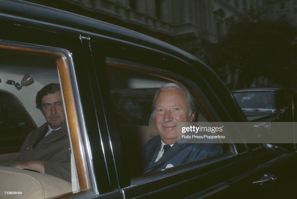 English Conservative Party politician and Prime Minister of the United Kingdom, Edward Heath (1916-2005) smiles as he is driven away from Downing Street, the morning after Parliament voted in favour of Britain's entry into the European Common Market (European Union) on 29th October 1971.