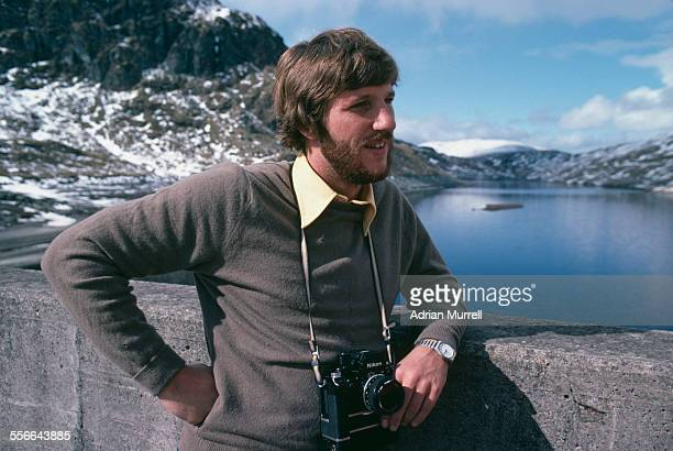 English cricketer Ian Botham on holiday in Scotland April 1980