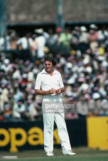 English cricketer John Emburey 'Man of the Match' plays Sri Lanka in Colombo Sri Lanka February 1982