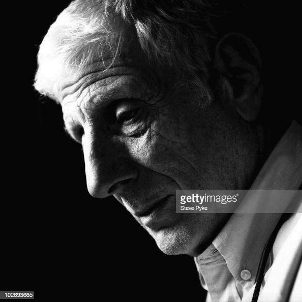 Cultural commentator Jonathan Miller poses for a portrait shoot in London UK