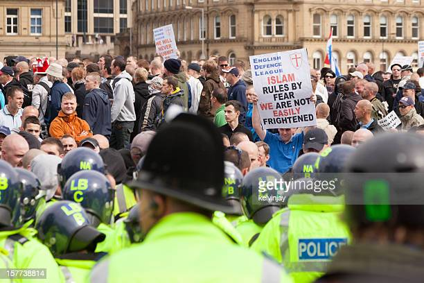 English Defence League rally in Bradford