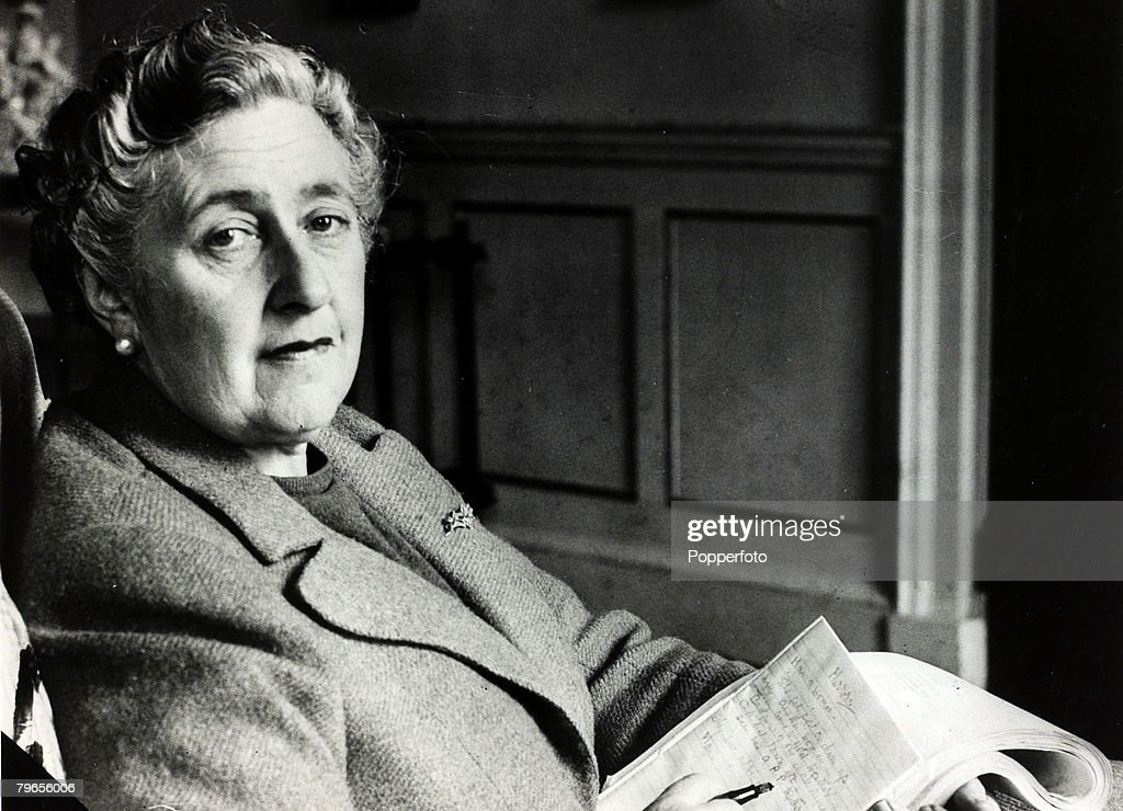 January 1946, English crime writer Agatha Christie at her home Greenway House, Devon, Agatha Christie,(1890-1976), the world's best known mystery writer, famous for her Hercule Poirot and Miss Marple stories, and for her plays including 'The Mousetrap'