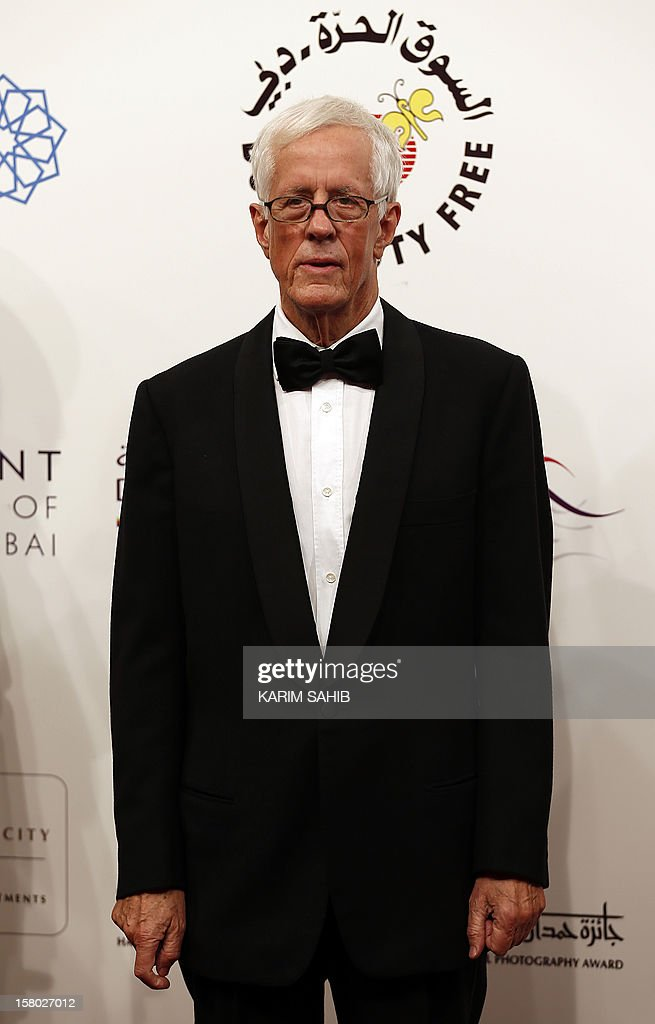 English director Michael Apted attends the opening ceremony of the Dubai International Film Festival in the Gulf emirate of Dubai on December 9, 2012.