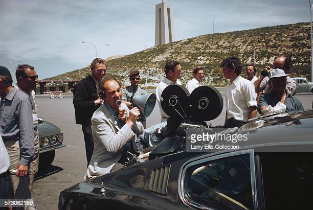 English director Peter R Hunt on location in Portugal for the filming of the James Bond movie 'On Her Majesty's Secret Service' 1969