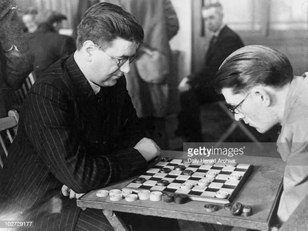 English Draughts Championship at the YMCA March 1948 English Draughts Championship at the YMCA Bolton in March 1948 Blind competitors JO Dewson of...