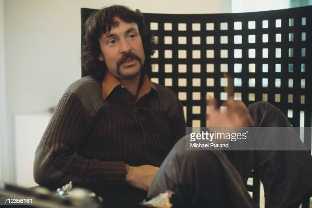 English drummer Nick Mason of rock group Pink Floyd being interviewed in the United Kingdom on 9th August 1974