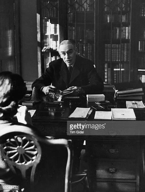 English economist John Maynard Keynes created 1st Baron Keynes of Tilton in his study in Bloomsbury London 16th March 1940 Original Publication...