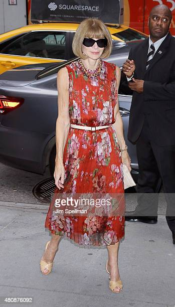 English editorinchief of American Vogue Anna Wintour attends The Cinema Society with FIJI Water Metropolitan Capital Bank host a screening of Sony...