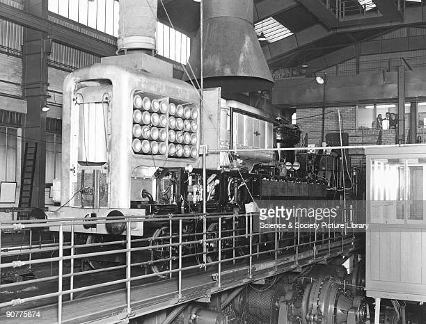 English Electric 460 Gas Turbine loco GT3 on test at Rugby Locomotive Testing Station 1957/58