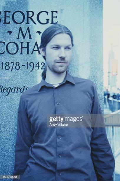 English electronic musician and composer Aphex Twin circa 1997