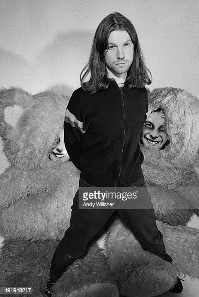 English electronic musician and composer Aphex Twin circa 2000