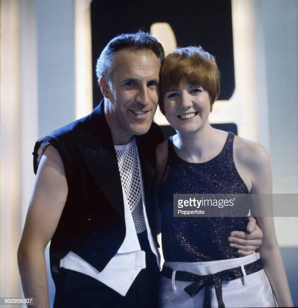 English entertainer and presenter Bruce Forsyth pictured with the singer Cilla Black on the television series 'The Bruce Forsyth Show' in 1966