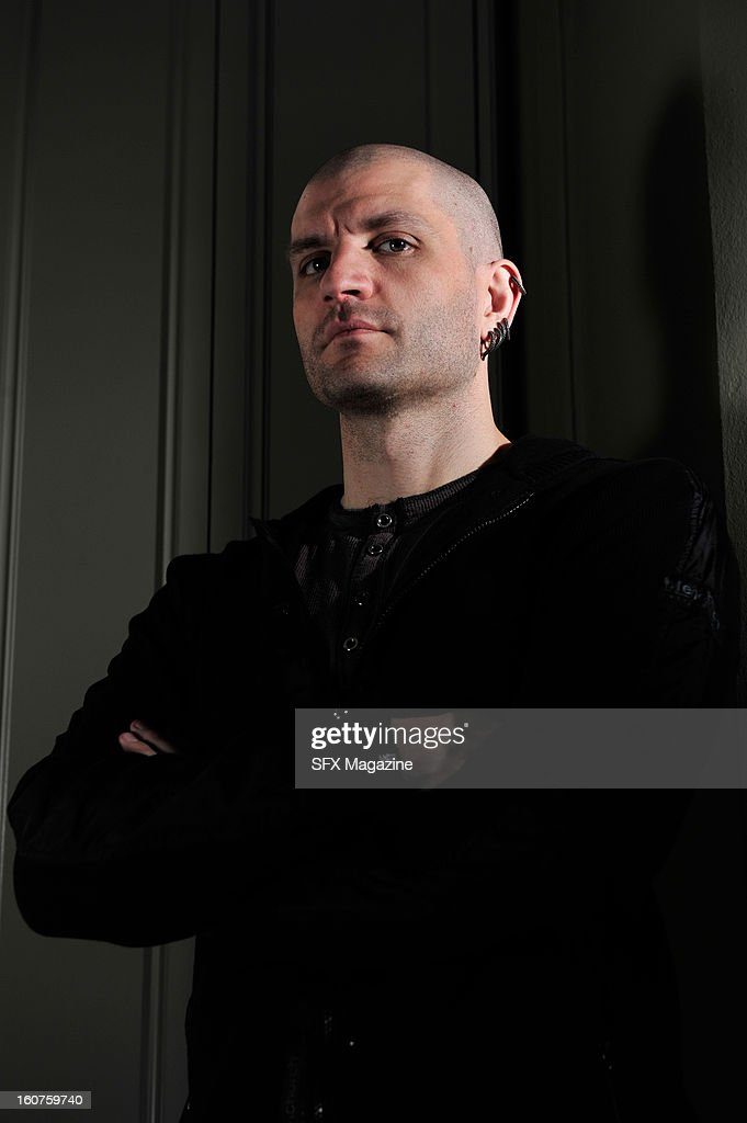English fantasy fiction writer China Mieville photographed during a portrait shoot for SFX Magazine, April 12, 2012.