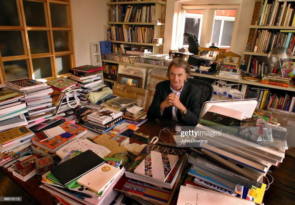 English fashion designer Sir Paul Smith at his office, circa 2005.