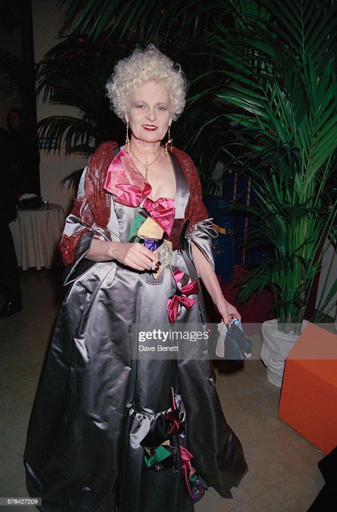 English fashion designer Vivienne Westwood attends the Gianni Versace Haute Couture Summer 1996 launch at the Ritz Paris Paris France 20th January...