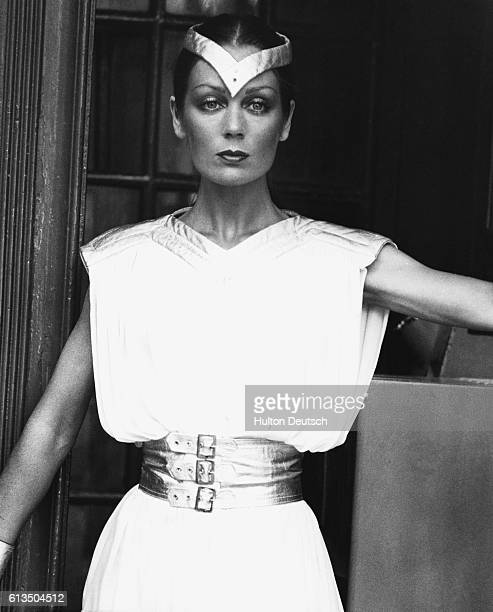 English fashion model and actress Lorraine Chase modelling futuristic clothing in 1979 Information from photo Lorraine Chase originally a model shot...