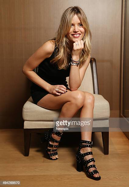 English fashion model Georgia May Jagger poses during a photo shoot wearing Thomas Sabo jewellery in Sydney New South Wales