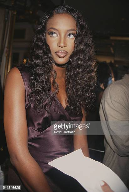 English fashion model Naomi Campbell at a Victoria's Secret fashion show in the Plaza Hotel New York City 1997