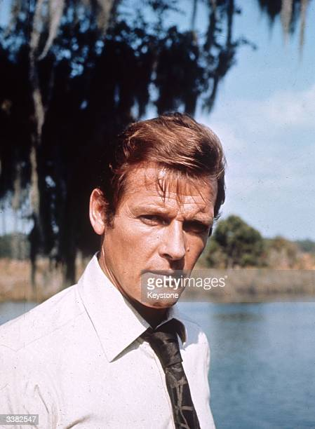 English film and television actor Roger Moore on location for the filming of the James Bond 007 movie 'Live and Let Die'