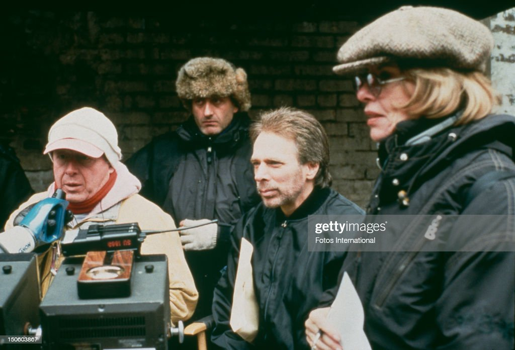 English film director Tony Scott on the set of 'Enemy Of The State' with producer Jerry Bruckheimer USA 1998