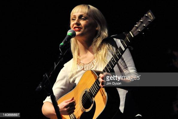 English folk musician Laura Marling performs live on stage at HMV Hammersmith Apollo on March 7 2012 in London United Kingdom