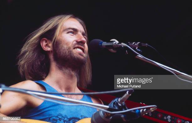 English folk singer and musician Roy Harper performs on stage Hyde Park London UK 14th September 1971