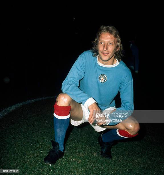 English Football League Division One Arsenal v Manchester City Denis Law poses in his City kit