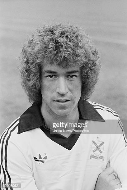 English footballer and Fulham FC player John Beck posed on 3rd August 1979