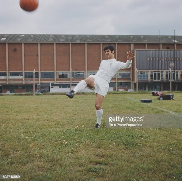 English footballer and midfielder with Leeds United Mick Bates pictured during a training session outside Leeds United's Elland Road stadium in Leeds...