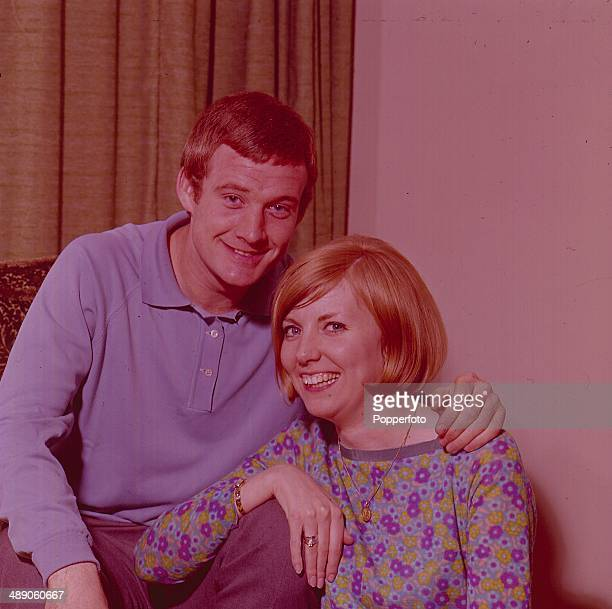 English footballer and Queens Park Rangers striker Rodney Marsh posed at home with his wife Jean Barry in 1967