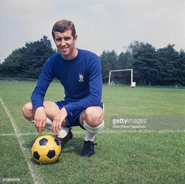 English footballer and striker with Chelsea Peter Osgood pictured during a press call at Chelsea's training ground in London in 1968