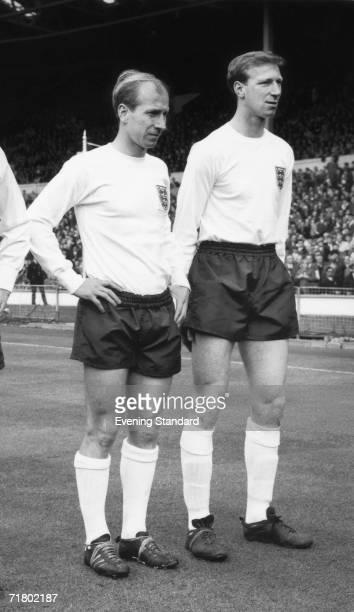 English footballer brothers Jack and Bobby Charlton 9th April 1965