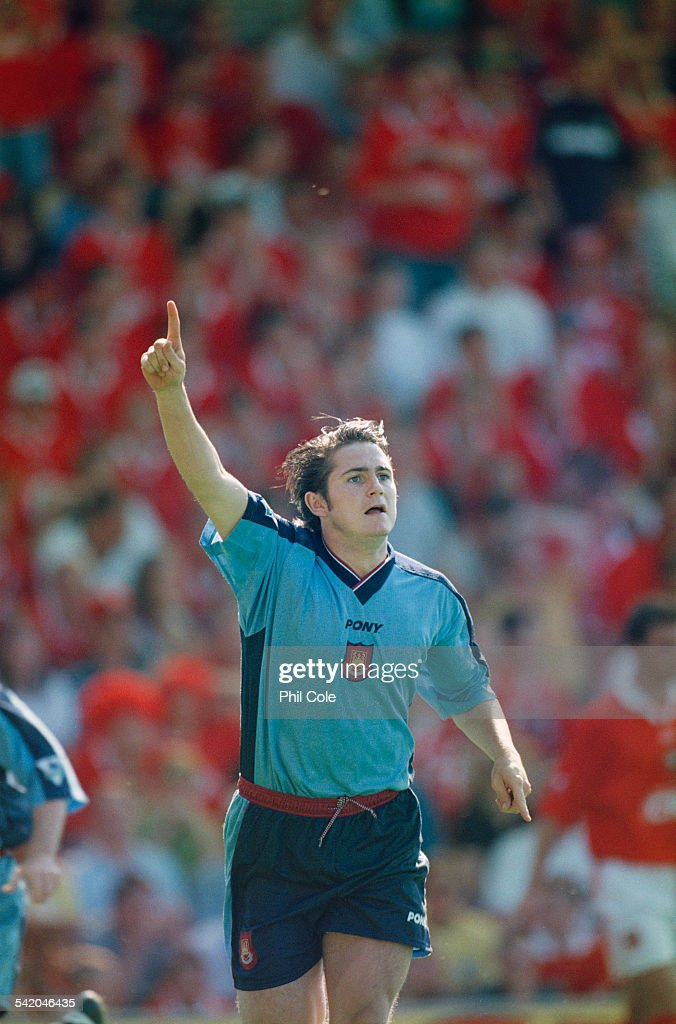 English footballer Frank Lampard of West Ham celebrates his goal against Barnsley in an English Premier League match at the Oakwell stadium Barnsley...
