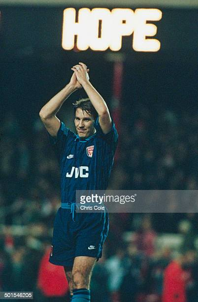 English footballer Paul Merson of Arsenal during a UEFA Super Cup match against Inter Milan 2nd February 1995 The match ended in a goalless draw