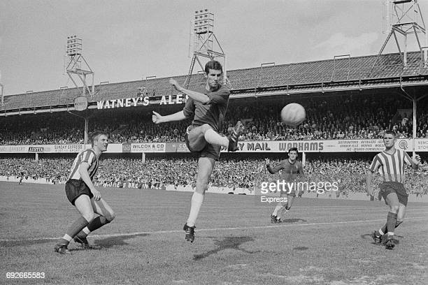 English footballer Peter Osgood of Chelsea FC during a League Division One match against Southampton UK 3rd September 1966