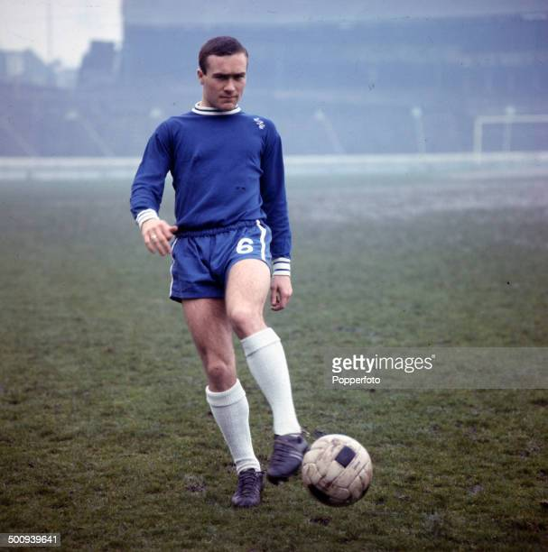 English footballer Ron Harris pictured training at Chelsea's home ground of Stamford Bridge in West London in 1966