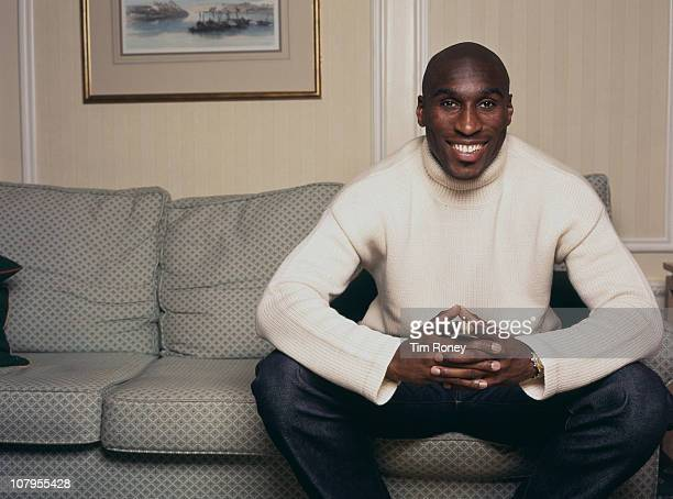 English footballer Sol Campbell circa 1995