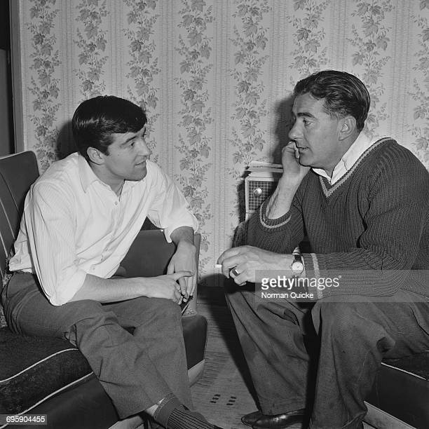 English footballer Terry Venables at home with his father Fred UK 22nd April 1965