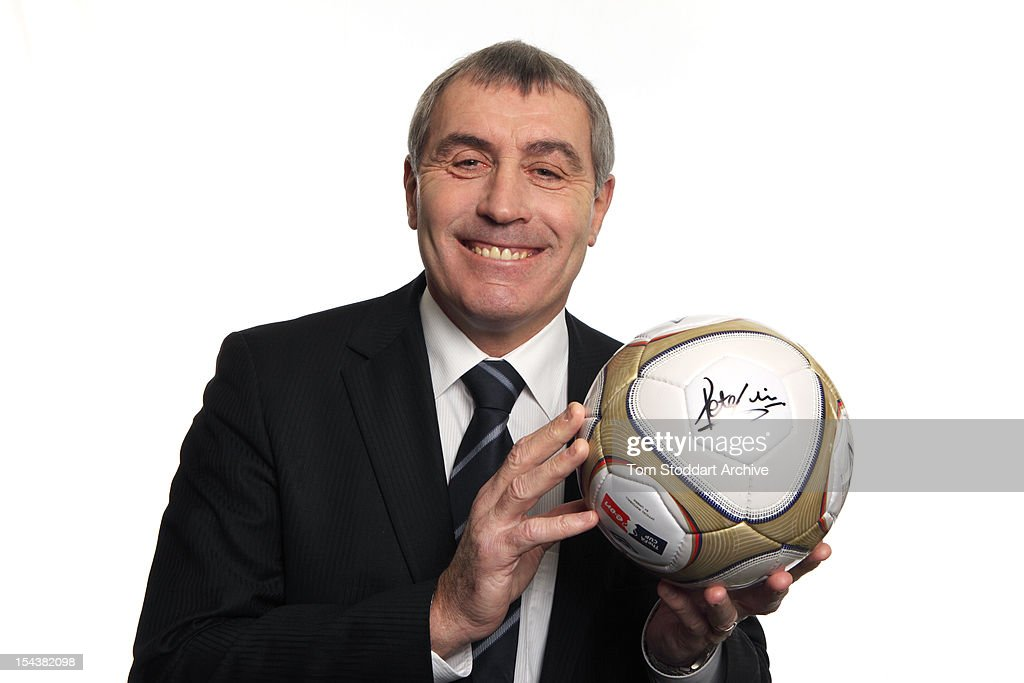 English former goalkeeper <a gi-track='captionPersonalityLinkClicked' href=/galleries/search?phrase=Peter+Shilton&family=editorial&specificpeople=233478 ng-click='$event.stopPropagation()'>Peter Shilton</a>, London, January 2010. He currently holds the record for playing more games for England than anyone else, earning 125 caps. His 30-year career included eleven different clubs, three World Cups, two European Cup finals and more than 1,000 competitive matches. He has the rare distinction of having played over 100 league games for five different clubs. Shilton did not make his World Cup finals debut until the age of 32 but he played in 17 finals matches and shares the record 10 clean sheets in World Cup finals with French keeper Fabien Barthez. During his time at Nottingham Forest he won two European Cups, a UEFA Super Cup, the First Division championship, the Football League Cup and many other honours. Shilton also holds the all-time record for the most competitive appearances in world football.
