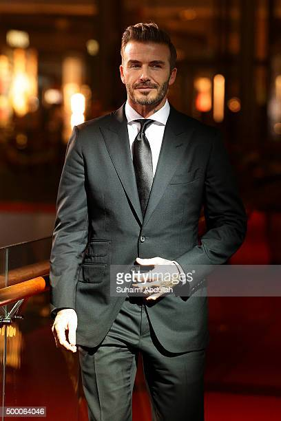 English former professional footballer David Beckham walks the red carpet during the Singapore International Film Festival Benefit Dinner Red Carpet...
