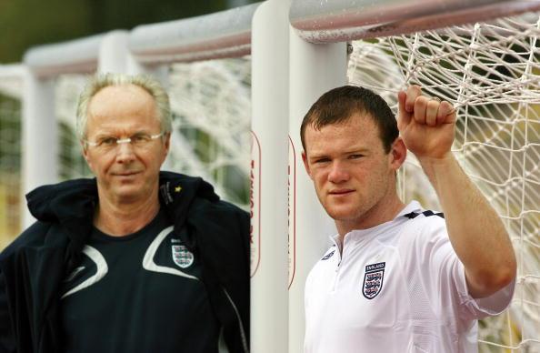 English forward Wayne Rooney poses along : News Photo