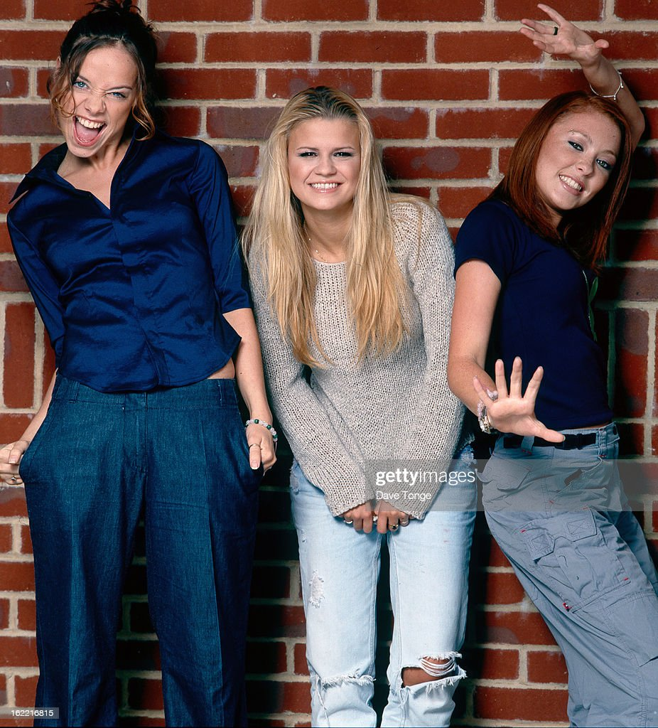 English girl group Atomic Kitten London June 1999 Left to right Liz McLarnon Kerry Katona and Natasha Hamilton