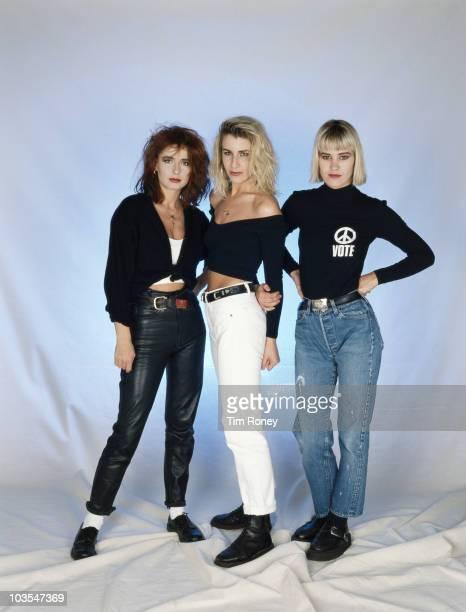 English girl group Bananarama circa 1985 From left to right Keren Woodward Sara Dallin and Siobhan Fahey