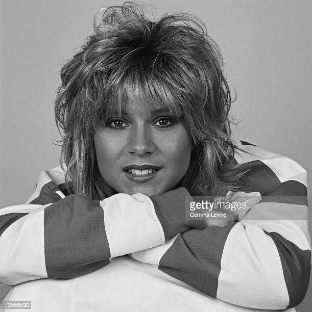 English glamour model and singer Samantha Fox circa 1985