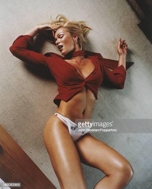 English glamour model Nell McAndrew circa 2000