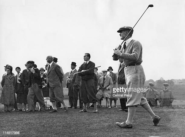 English golfer Abe Mitchell competing in the News of the World Match Play competition at the Royal Mid Surrey Golf Club 1931