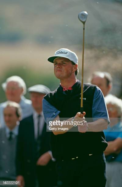 English golfer Gary Wolstenholme wins the 1991 British Amateur Championship at Ganton Golf Club North Yorkshire UK