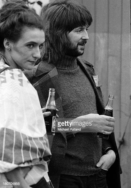 English guitarist and singersongwriter Eric Clapton with his fiance socialite Alice OrmsbyGore Paris 9th September 1972