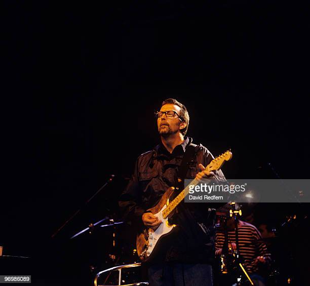 Eric Clapton performs on stage at the Jazz A Vienne Festival held in Vienne France on July 05 1997